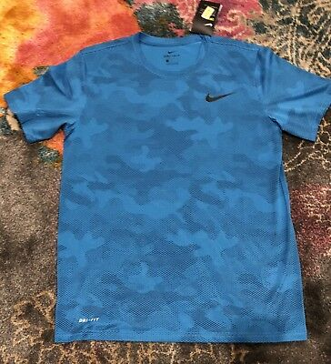5f96a529 NWT Men's Nike XL Dry Legend Camouflage Training Shirt Turquoise 909350 $25  Ret