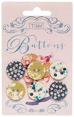 Tilda Memory Lane Fabric Cover Buttons 20mm