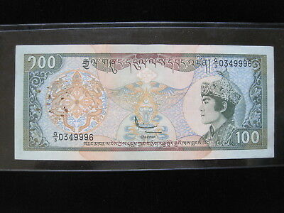Bhutan 100 Ngultrum 1994 P20 Thunder Dragon 86# Bank Currency Banknote Money