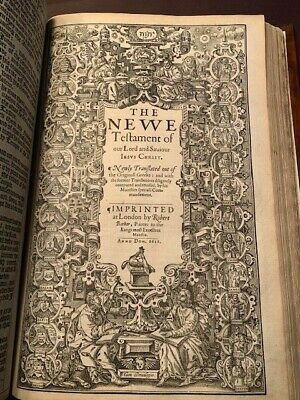 "1611 King James Folio Bible 1St Edition ""he""  100% No Facsimile W/map. Very Rare"