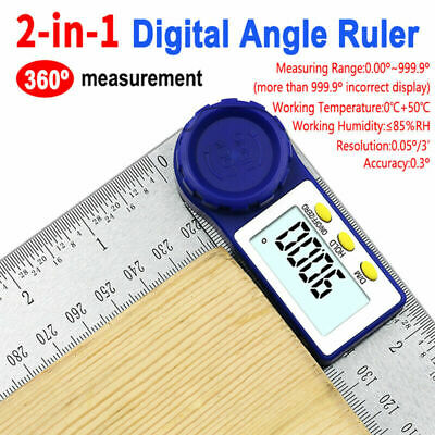 0-200mm 8'' Digital Angle finder Ruler Electron Protractor Measuring Tool 360°