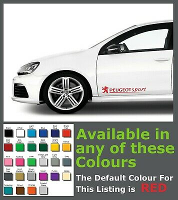 Peugeot Sport Premium Side Decals/Stickers x 2