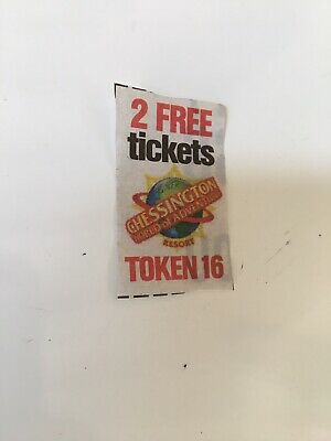 SUN SUPERDAYS CHESSINGTON PRINTED TOKEN (TOKEN 16, 24th Feb 2019) - 9 available