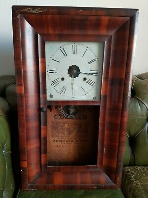 ANTIQUE  Wall CLOCK. Jerome and Co. Connecticut.  Great restoration project!