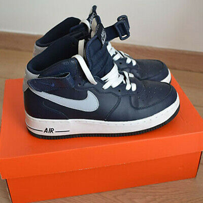 sports shoes e69f7 bd07c Baskets montantes Nike Air Force One bleu marine, pointure 38,5