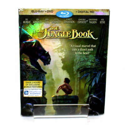 Walt Disney's The Jungle Book DVD + Blu-Ray 2016 Rated PG Live Action 2 Disc Set