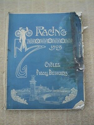 Catalogue Cycles Racing Paris 1909, Vélos Course, Bicyclette, Accessoires