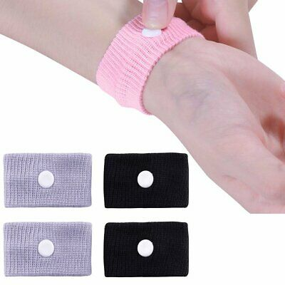 1 Pair Car Motion Sickness Relief Wrist Band Acupressure Anti-Nausea Washable