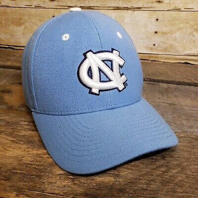 lowest price d33fc 370dd University of North Carolina Tar Heels Fitted Hat Cap Size 7 1 2 Blue UNC