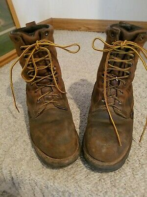 baa0613180a RED WING BOOTS 4417 Steel Toe Loggermax Hazard Work Boots Men's Size 7