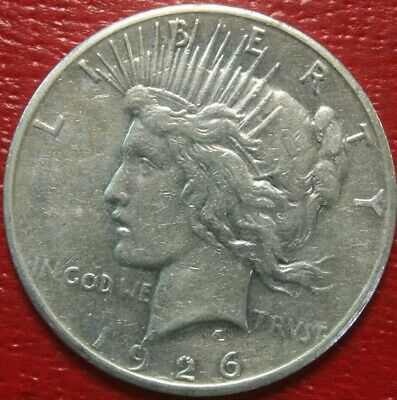 1926-S Peace Silver Dollar $ , XF , US Coin,