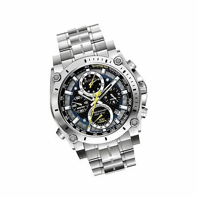 Bulova Men's 47mm Precisionist Stainless Steel Chronograph Watch -JS