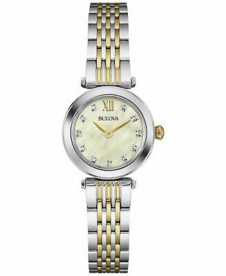 Bulova Women's Diamond Accent Two Tone Stainless Steel  Watch 98P154 - JS
