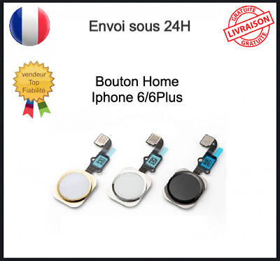 Bouton Home Complet Pour Iphone 6 ou 6+ Nappe Home 6  ou 6+ Complet  Home Button