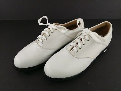 dfa220cc5df Nike Air Comfort Bella Last White Leather Golf Shoes Women US Size 8 Soft  Spikes