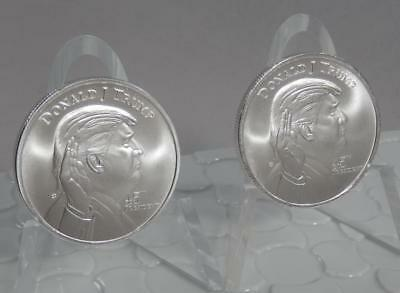 x2 Donald Trump 45th President 1 Troy Ounce Oz 999 Fine Silver Art Rounds C1013