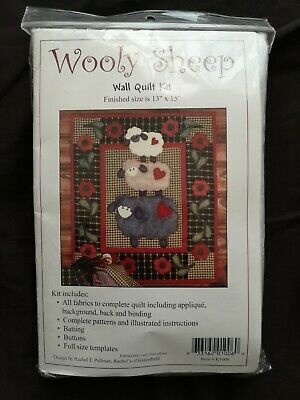 Wooly Sheep Wall Quilt Kit,Sew Wool Felt Fabric Stitch Knit Craft Toy Hobby, New