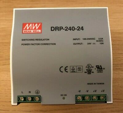 Mean Well DRP-240-24 Power Supply Linear and Switching Used