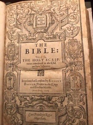 1616 Geneva Bible Folio RARE Final Gen Folio to contain Apocrypha. 100% Complete