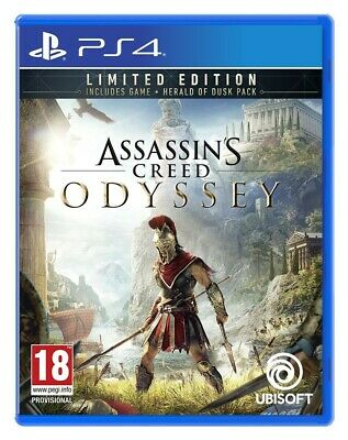 Assassins Creed Odyssey Ps4 Limited Edition Gold Armure Rare Légende Vivante Jeu