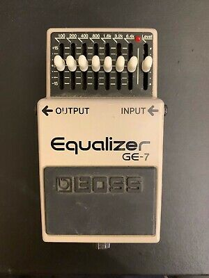 Boss GE-7 GE 7 Graphic Equalizer Guitar Effect Pedal BOXED