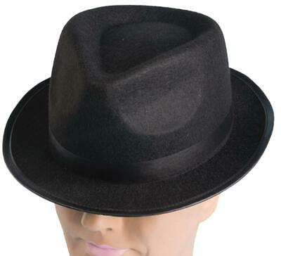 Hip Hop Felt Black Top Hat 80/'S Fedora Hipster Blues Brothers Costume Accessory
