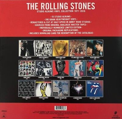 THE ROLLING STONES  STUDIO ALBUMS VINYL COLLECTION 1971-2016 Ltd.Ed.180g. 20LP's