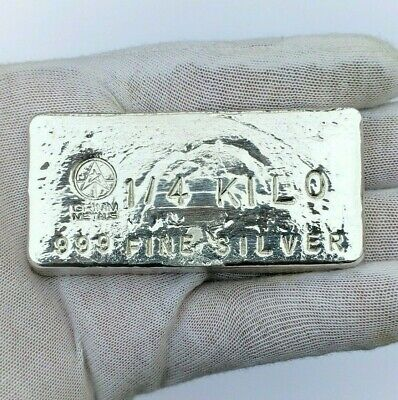1/4 Kilo .999 Fine Silver Bullion Bar - Hand Poured - Hand Stamped -Grimm Metals