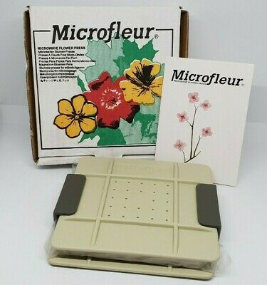 "Microfleur Microwave Flower Press 5"" model new and boxed with instructions"