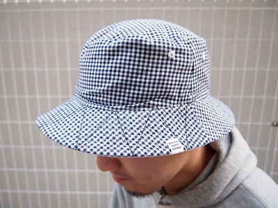74c586ab680 Herschel Supply Co Lake Bucket Hat White Blue Gingham New With Tags Size S M