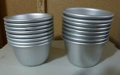 16 Metal Baking Pudding Cake Pie Moulds Cookers