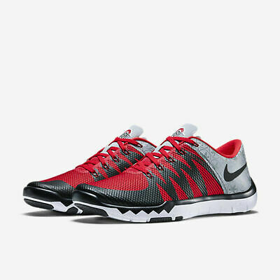 c21c39611e307 Nike Free Trainer 5.0 V6 AMP Men s Wolf Grey Black Red Training Shoes 723939