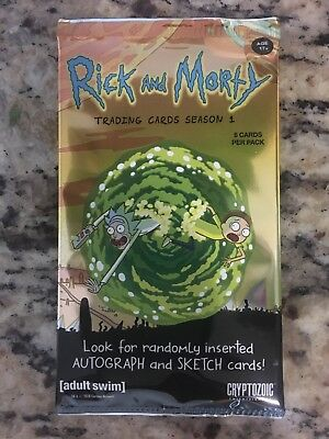 2018 Cryptozoic Rick And Morty Season 1 Trading Cards Factory Sealed Retail Pack