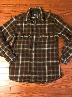 bc051b4f Woolrich Men's Flannel Shirt Size Extra Small Brown and Orange Plaid