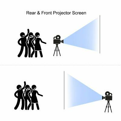AMWOKE Projector Screen,100 inch Portable Projection Screen with 16:9 HD Movie S