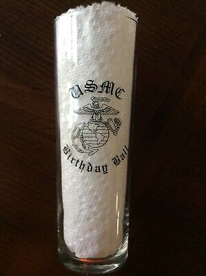 United States Marine Corps Birthday Ball Drinking Glass in fantastic condition