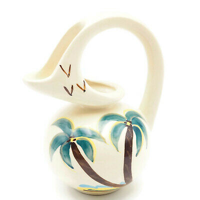 Vintage Collectible Purinton Pottery Honey Jug Pitcher With Palm Tree Motif