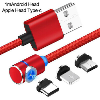 Magnetic USB Type C Micro Lightning Fast Data Sync Charging Charger Phone Cable