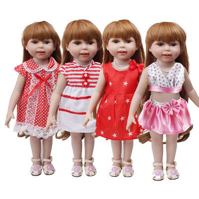 Handmade Lovely Girl Dress Skirt Clothes Accessories For 18 inch American Doll