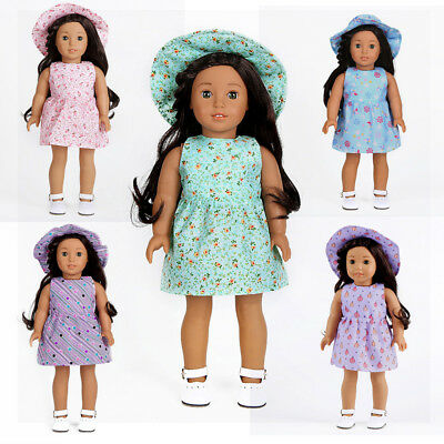 Handmade Fashion Hat & Dress Skirt Clothes Combo For 18 inch American Doll New