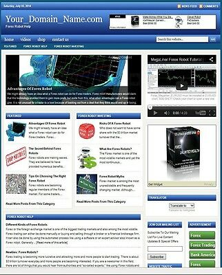 FOREX ROBOTS BLOG WEBSITE BUSINESS FOR SALE! with TARGETED SEO CONTENT