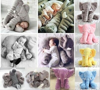 Baby Sleeping Pillow Long Nose Elephant Soft Plush Stuffed Toy Cuddly Toy Gift R
