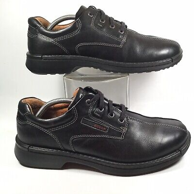 96589cf028 ECCO Fusion Mens Black Leather Lace Up Oxford Outdoor Walking Shoes US 9.5  $170