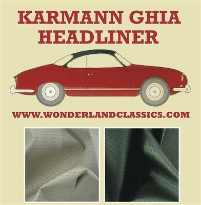 VW Volkswagen Karmann Ghia Type 14 Perforated Vinyl Headliner 1956 - 1974