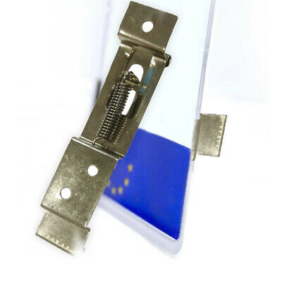 1 Pair Oblong Trailer Number Plate Clips / Holder Spring Loaded Stainless Steel