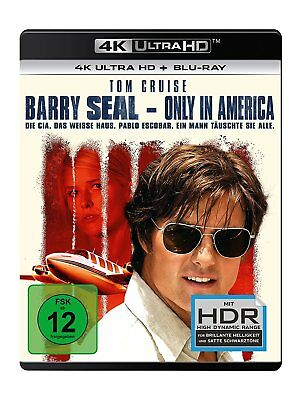 Barry Seal-Only In America - Tom Cruise (4K Uhd+Bluray)  2 Ultra Hd Blu-Ray New