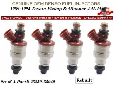 Genuine Denso Upgrade Flow Matched Fuel Injectors Toyota Pickup 4Runner 2.4L