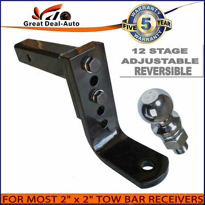 Max Rated 4000KGS Adjustable Tow bar Ball Mount Tongue Hitch 5 holes 12 stage