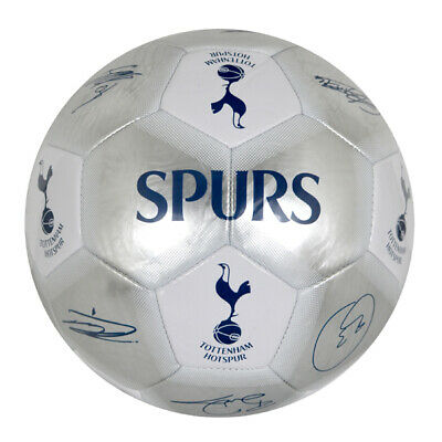 Tottenham Hotspur Fc Silver Colour Signature Football Adult Size 5 New Xmas Gift