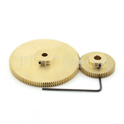 0.5M120-60T Module 0.5 Motor Metal Gear Wheel Set Kit Ratio 2:1 Wheelbase 45mm
